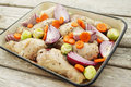 Chicken And Vegetables Stock Image - 56927381