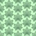 Chestnut Leaves Seamless Vector Pattern. Vintage Style And Colors (green). Stock Photo - 56944900