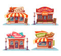 Cafe, Restaurant, Ice-cream Shop And Bakery Stock Image - 56966161
