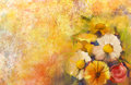 Oil Painting A Bouquet Of Rose On Grunge Pape Stock Photo - 56967550