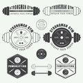 Set Of Gym Logo, Labels,badges And Elements In Vintage Style Stock Photo - 56976550