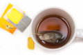 A Cup Of Tea With Tea Bag Royalty Free Stock Photo - 56991065