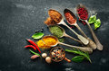 Various Herbs And Spices Stock Photos - 57018503