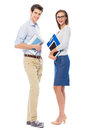 Young Couple Standing Royalty Free Stock Image - 57026236