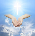Worshiping The Divine Source Of Love And Light Royalty Free Stock Image - 57031046