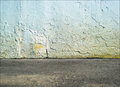 Empty Street Concrete Wall With Ground Floor Royalty Free Stock Photo - 57037585