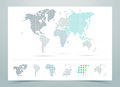 World Map Dotted Vector With Continents Stock Photo - 57038090