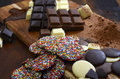 Cooking With Chocolate Concept With Raw Ingredients Royalty Free Stock Photography - 57046687