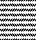 Black And White Geometric Seamless Pattern With Wavy Stripe Line Royalty Free Stock Photo - 57048775