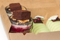 Desserts In Container Box Royalty Free Stock Images - 57050639