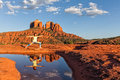 Yoga At Cathedral Rock Stock Photography - 57076582