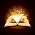 Old Opened Book With Magic Light Vector Background Stock Image - 57076721