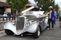 Silver 1933 Ford Roadster Street Rod At The Auto Show Stock Image - 57081991