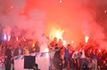 FC Dnipro Ultras (ultra Supporters) Royalty Free Stock Image - 57082136