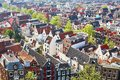 Aerial Scenic View Of Central Amsterdam Royalty Free Stock Photos - 57087828