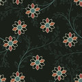 Abstract Geometric Flowers Seamless Pattern. Floral Background. Royalty Free Stock Image - 57093666