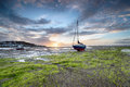 Boats At Low Tide Stock Photography - 57096482