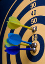 Magnetic Dart Board With Darts Royalty Free Stock Photos - 5716568