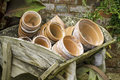 Terra Cotta Flower Pots Royalty Free Stock Images - 57103859