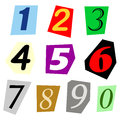 Cut Out Number Set Royalty Free Stock Photos - 57104528