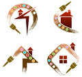 House Painting Logo Set Stock Images - 57106754