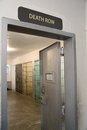 Death Row Sign Over A Prison Cell Block Door Stock Photography - 57135252