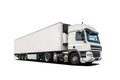 White Heavy Truck Isolated Royalty Free Stock Photos - 57136858