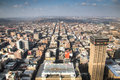 View Over Downtown Johannesburg In South Africa Royalty Free Stock Photography - 57139147
