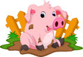 Cute Pig Cartoon Stock Images - 57152234
