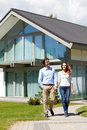 Couple Walking From House Royalty Free Stock Photography - 57152927
