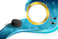 Background Abstract Hockey Blue Ice Puck Gold Circle Frame Illustration Stock Photos - 57170713