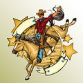 Rodeo Cowboy Riding A Horse Stock Photography - 57172452