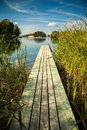 Old Small Pier At The Lake Galve In Trakai Stock Image - 57173091