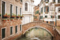 A Bridge Over A Small Canal, Venice Royalty Free Stock Photo - 57176735