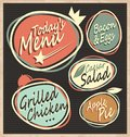 Retro Restaurant Menu Template Royalty Free Stock Photography - 57184947
