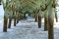 Under Pier Royalty Free Stock Image - 57187576