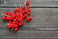 Fresh Sweet Redcurrants On Wooden Background Stock Images - 57190434