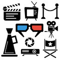 Cinema Web And Mobile Logo Icons Royalty Free Stock Photos - 57199038
