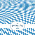 Oktoberfest Background With Blue-white Checkered Pattern Stock Photography - 57216312