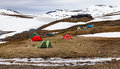 Mountain Arctic Tent Camp And Cottage. Stock Photos - 57217813