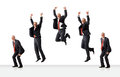 Sequence Of Jumping Senior Business Man Royalty Free Stock Images - 57221439