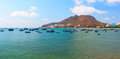 Lagoon With Different Fishing Boats. Vung Tau Province. Vietnam Stock Photography - 57221852