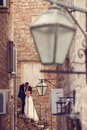 Groom And Bride In The City Royalty Free Stock Image - 57225126