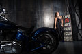 Beautiful Girl And A Motorcycle Royalty Free Stock Photo - 57228705