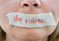 Stop Violence Stock Images - 57257454