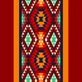 Colorful Red Yellow Blue And And Black Aztec Ornaments Geometric Ethnic Seamless Border, Vector Royalty Free Stock Photos - 57258318