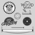 Vintage Set Of Carpentry Logos, Labels And Design Elements. Stock . Royalty Free Stock Image - 57270186