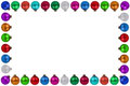 Colorful Christmas Balls Baubles Frame Decoration Isolated Stock Photography - 57276112