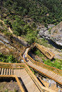 Wooden Stairs Around The Mountains Royalty Free Stock Image - 57285366
