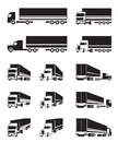 Trucks In Different Perspective View Royalty Free Stock Images - 57289409